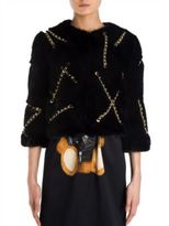 Moschino Chain Minx Faux Fur Jacket
