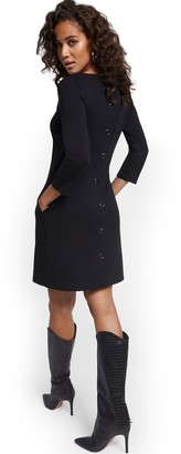 New York & Co. Button-Back Shift Dress