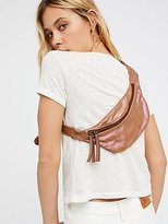 Free People Iridescent Leather Pocket Belt