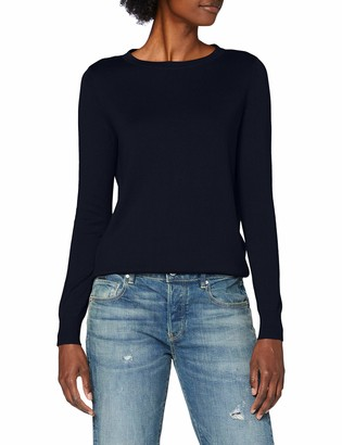 Vero Moda Women's VMMILDA LS O-Neck Back Blouse Boo Sweater