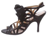 Lanvin Bow-Accented Satin Sandals