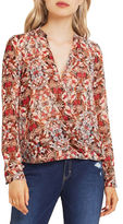BCBGeneration Printed Wrap Blouse