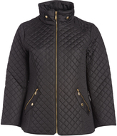 Ellen Tracy Black Quilted Puffer Jacket - Plus