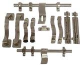 Laxmi Brass Door Stopper Barrel Bolt Aldrop Door Accessories Kit - Set of 10 Pieces