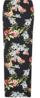 Dorothy Perkins Womens **Tall Black Floral Maxi Skirt- Black