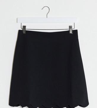 Asos Tall ASOS DESIGN Tall tailored a-line mini skirt with scallop hem