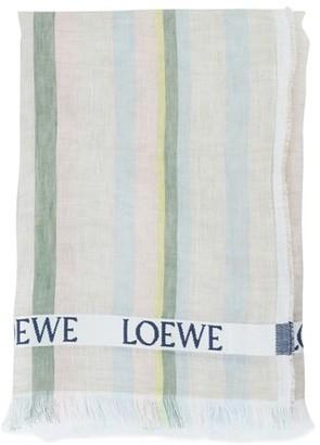 Loewe striped linen scarf