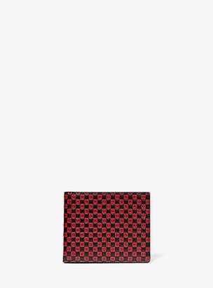 Michael Kors Henry Checkerboard Logo Leather Slim Billfold Wallet