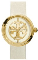 Tory Burch Women's 'Reva' Logo Dial Leather Strap Watch, 36Mm