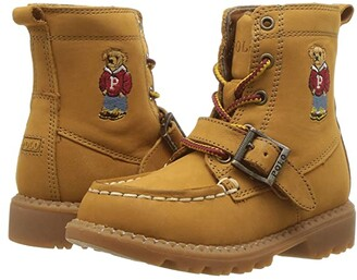 Polo Ralph Lauren Ranger Hi II (Toddler) (Cashew Nubuck/Hoodie Bear) Kid's Shoes