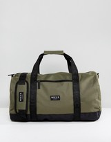 Nicce London Holdall In Khaki With Contrast Panels
