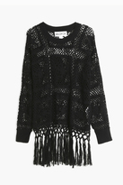 Wildfox Couture Fringed Crochet Top