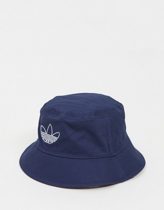 adidas reversible bucket hat with outline trefoil