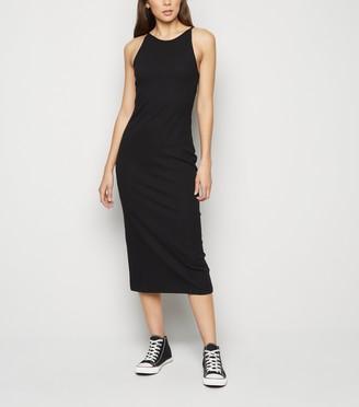 New Look Low Back Ribbed Bodycon Midi Dress