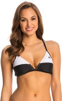 adidas Women's 3Stripe Solid Cross Back Bikini Top - 8142100