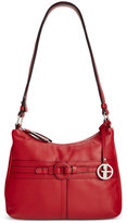 Giani Bernini Covered Ring Nappa Leather Hobo, Only at Macy's