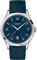 Montblanc 116481 Heritage Chronométrie Stainless Steel And Leather Watch