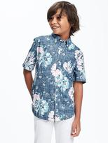 Old Navy Floral Pocket Shirt for Boys