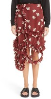 Simone Rocha Women's Gingham Crepe De Chine Skirt