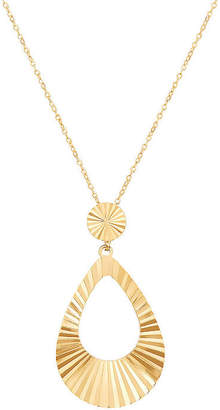 FINE JEWELRY Womens 14K Tri-Color Gold Pendant Necklace