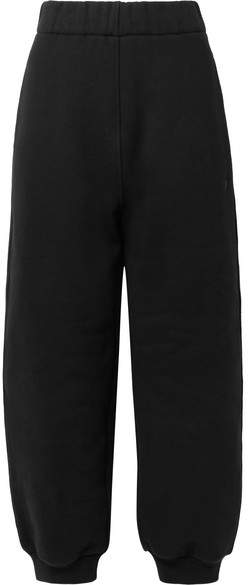 Alexander Wang Cotton-fleece Track Pants - Black