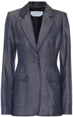 Gabriela Hearst Minos embroidered linen blazer