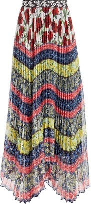 Alice + Olivia Katz asymmetric pleated skirt