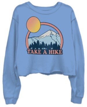 Junk Food Clothing Cotton Take A Hike Cropped Sweatshirt