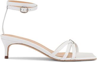 BY FAR Kaia Leather Sandal in White | FWRD