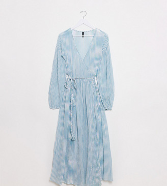 Y.A.S Tall Malta long sleeve wrap dress