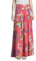 Diane von Furstenberg D Ring Floral Print Maxi Skirt
