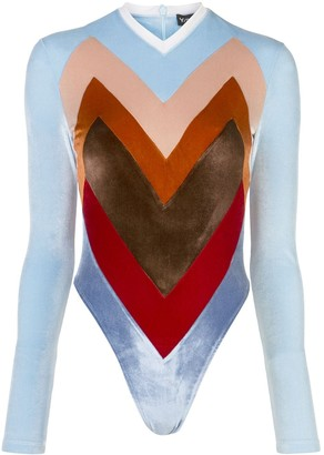 Y/Project colour-block bodysuit