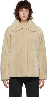 Yves Salomon Meteo Yves Salomon - Meteo Tan Shearling Spread Collar Jacket
