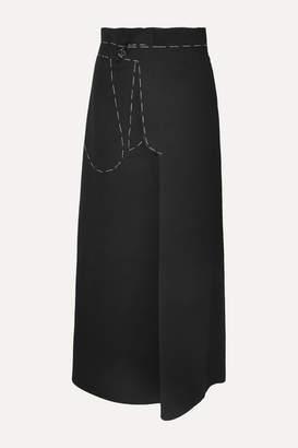 Maison Margiela Bonded Jersey Maxi Skirt - Black