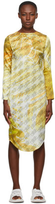Serapis Yellow Silk Monogram Dress