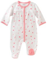 Absorba Infant Girls' Zoo Animal Footie - Sizes 0/3 to 6/9