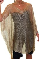 Ice 4091-3) Mesh Net Poncho Style Top Slight Sparkle 6-16