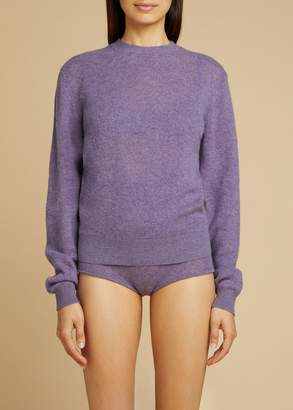 KHAITE The Viola Sweater in Amethyst