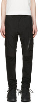 Julius Black Panelled Cargo Trousers