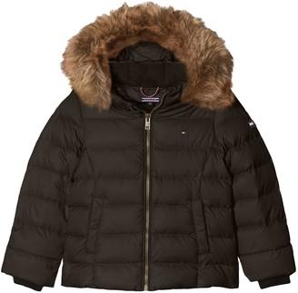 Tommy Hilfiger Girl's AME THKG DG BASIC DOWN JACKET Regular Fit Long Sleeve Jacket
