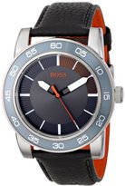 "HUGO BOSS BOSS Orange Men's 1512862 ""Kick Off"" Stainless Steel Watch with Black Leather Band"