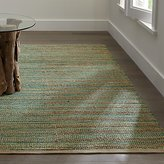 Crate & Barrel Jarvis Teal Blue Jute-Blend Rug