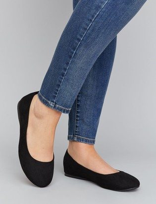 Lane Bryant Faux Suede Round-Toe Flat