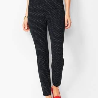Talbots Bi-Stretch Pull-On Skinny Ankle Pants - Dot