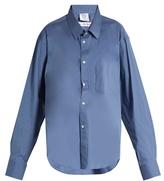 Vetements X Comme des Garçons cotton-blend shirt