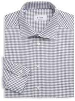 Eton Contemporary-Fit Checkered Cotton Dress Shirt