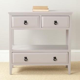 "August Groveâ® Sadie 31.9"" Solid Wood Console Table August GroveA Color: Quartz Gray"