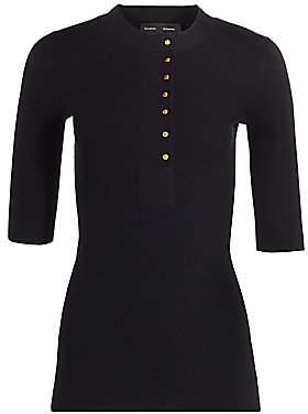 Proenza Schouler Women's Button-Front Silk & Cashmere Henley