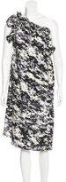 Thomas Wylde Silk One-Shoulder Dress