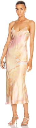Alix Lewis Dress in Melon Watercolor | FWRD
